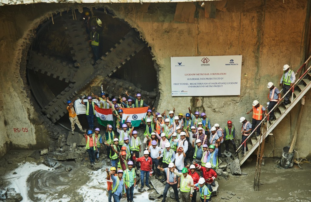 Lucknow Metro's first TBM breakthrough