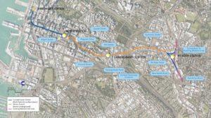 city rail link route