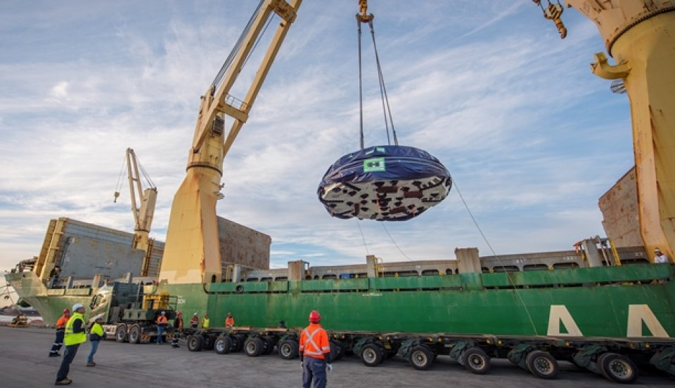 Herrenknecht TBM cutter head arrives in Sydney