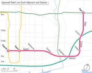 Toronto Relief Line South alignment 1024x819