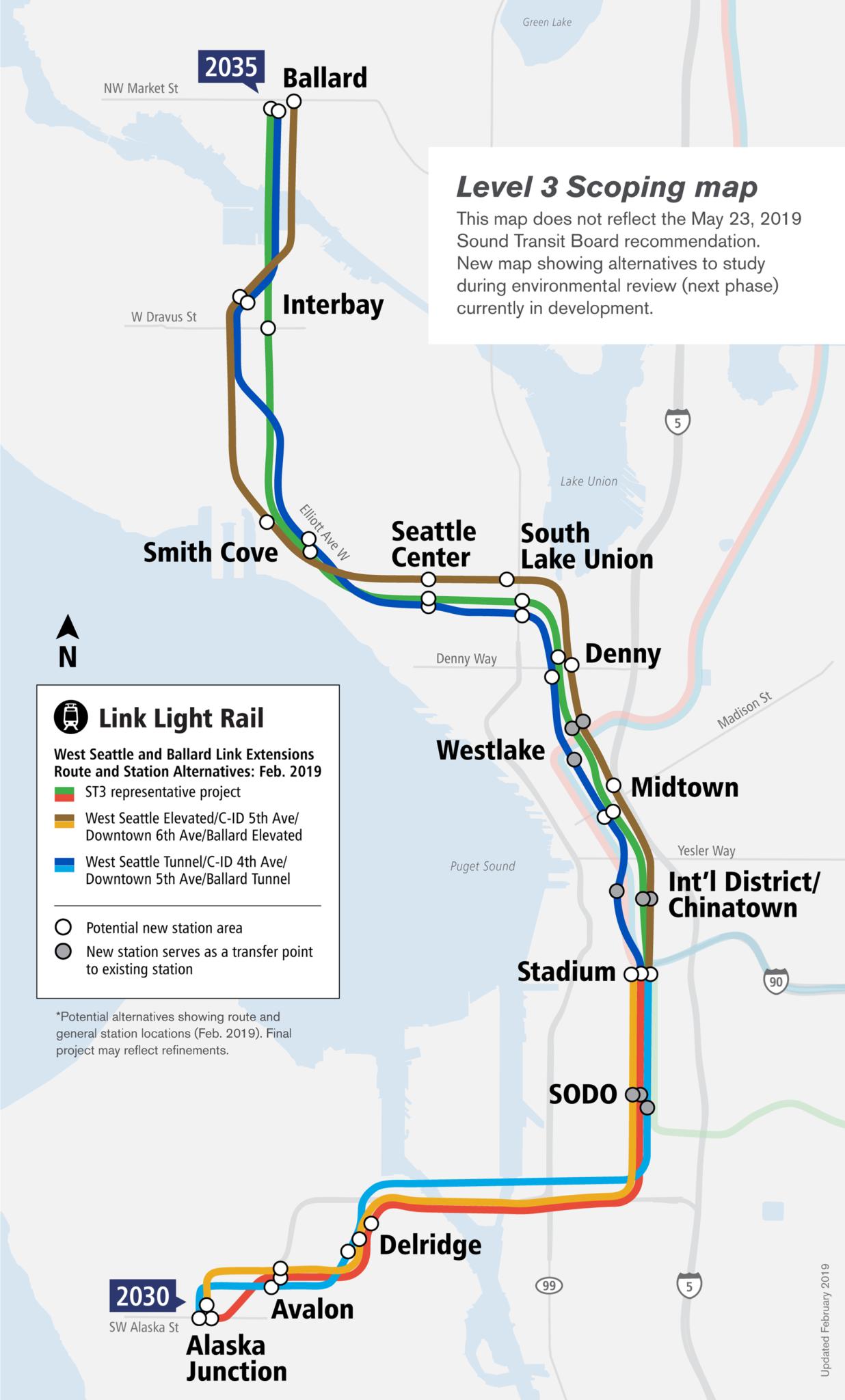 West Seattle Ballard map