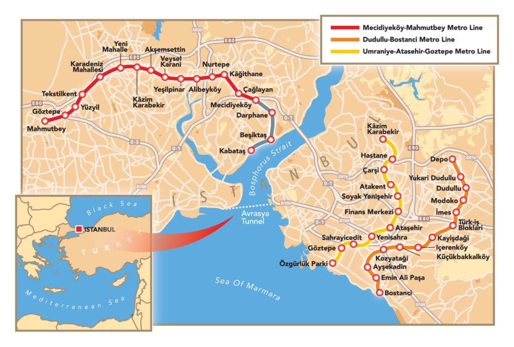 Istanbul Metro outlined