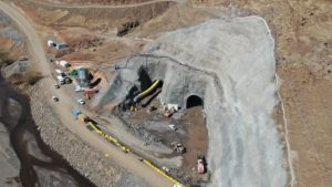 Diversion tunnels inlet portals with ventilation duct October 2020